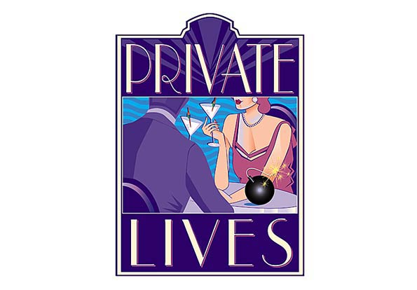 "Illustration promoting the play ""Private Lives"" by Noel Coward"